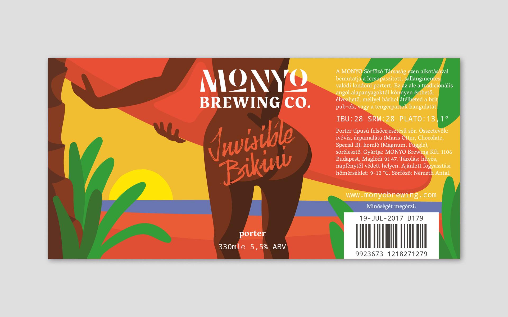 MONYO craft beer packaging \ Invisible Bikini label design