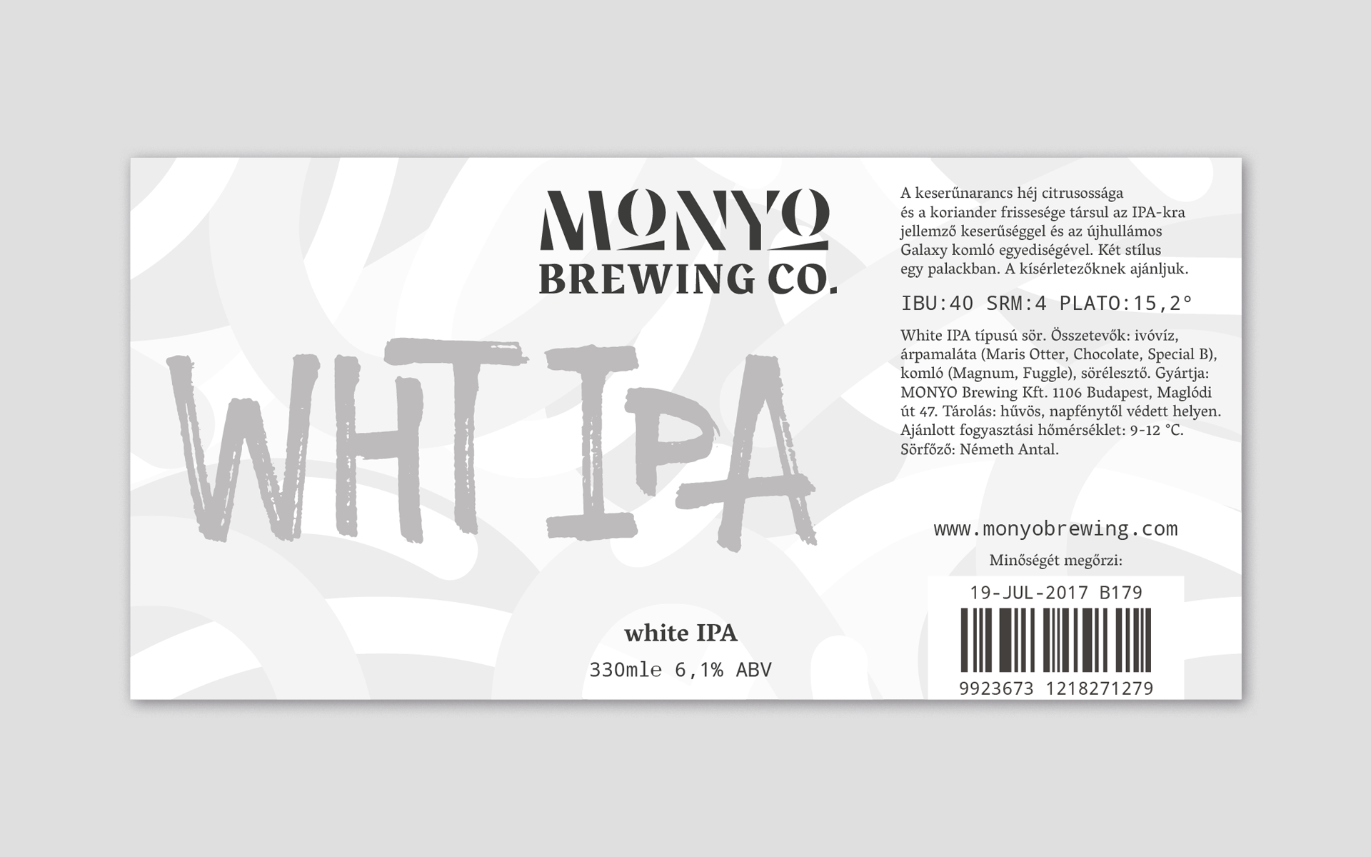MONYO craft beer packaging \ White IPA label design