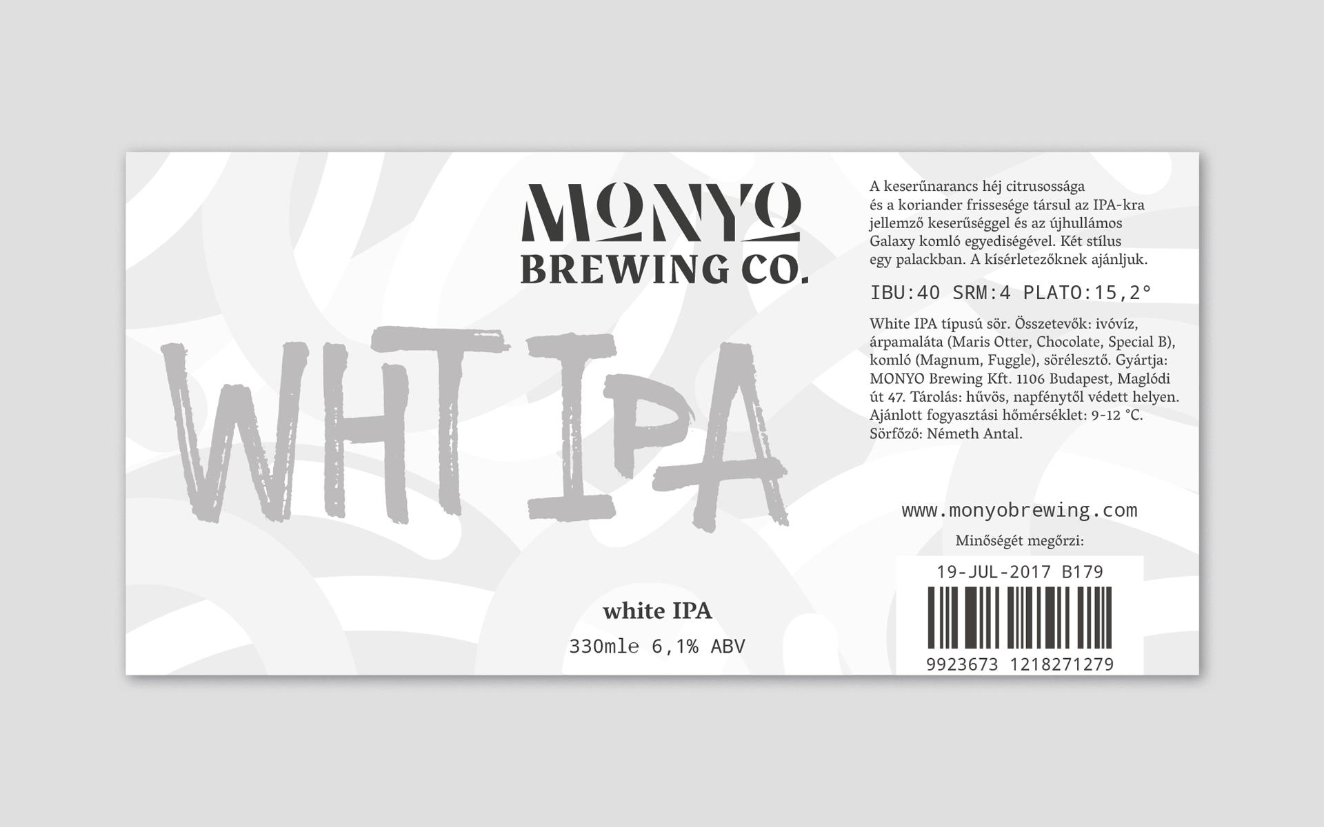 MONYO craft beer packaging \ White IPA label design