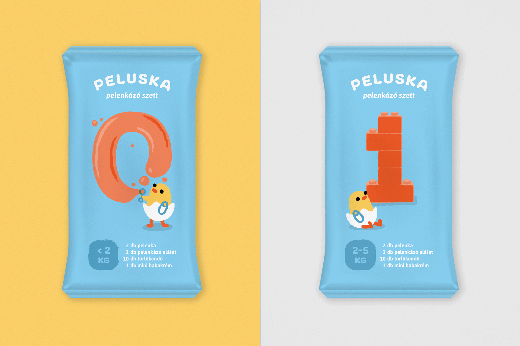 Diaper packaging for 0 and 1