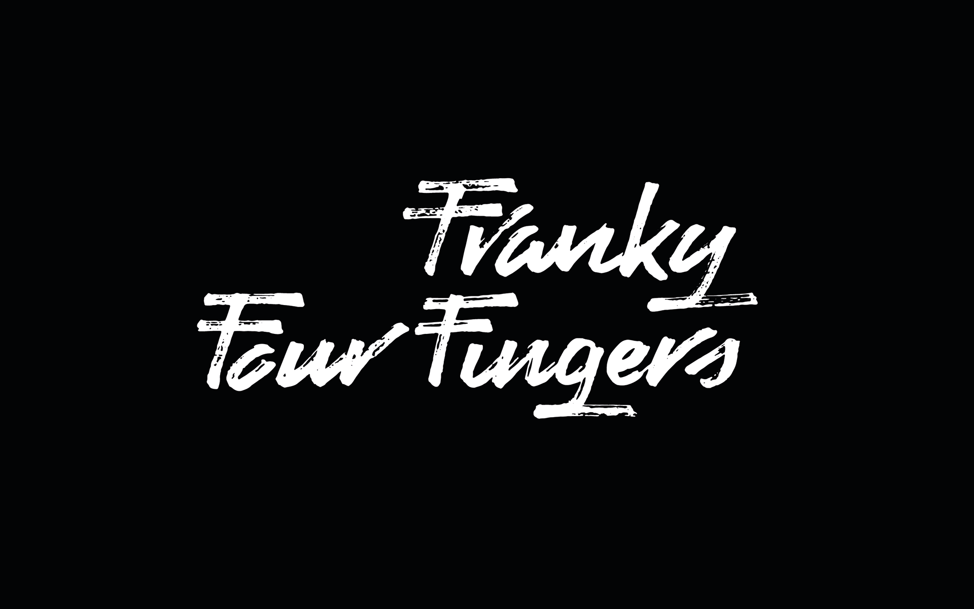 MONYO craft beer packaging \ Franky Four Fingers lettering