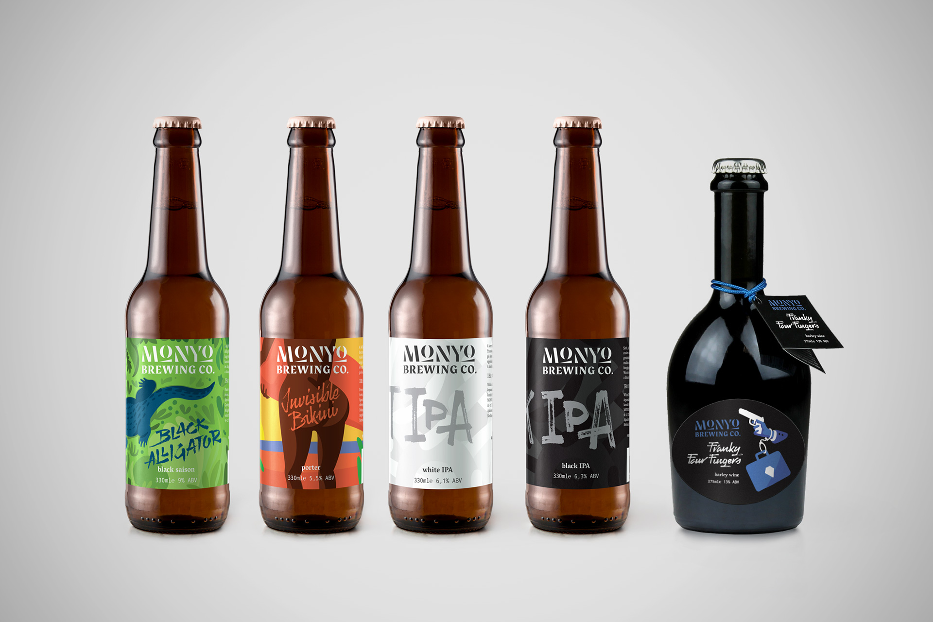 MONYO craft beer packaging \ Family portrait