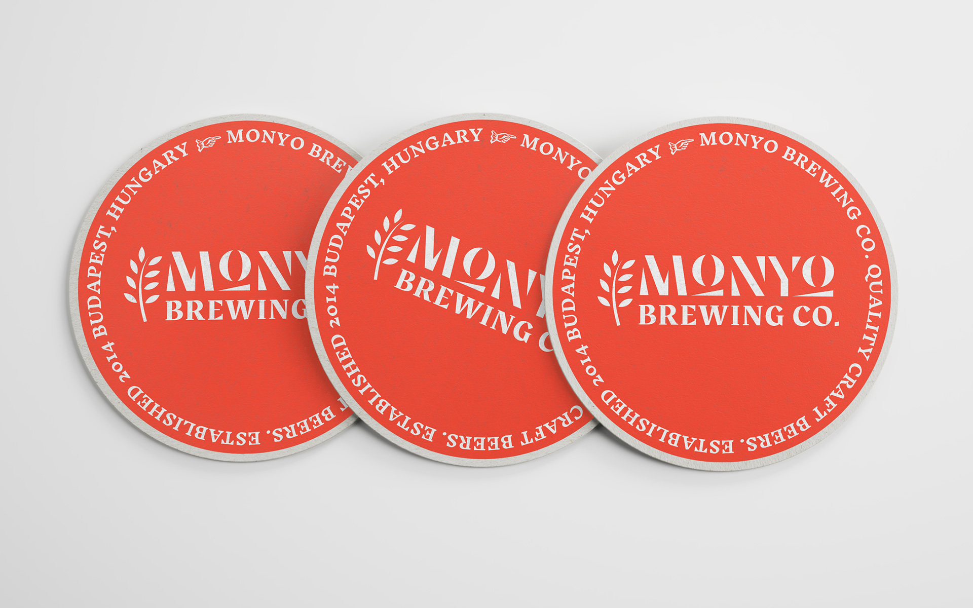 MONYO craft beer packaging \ Beer coaster