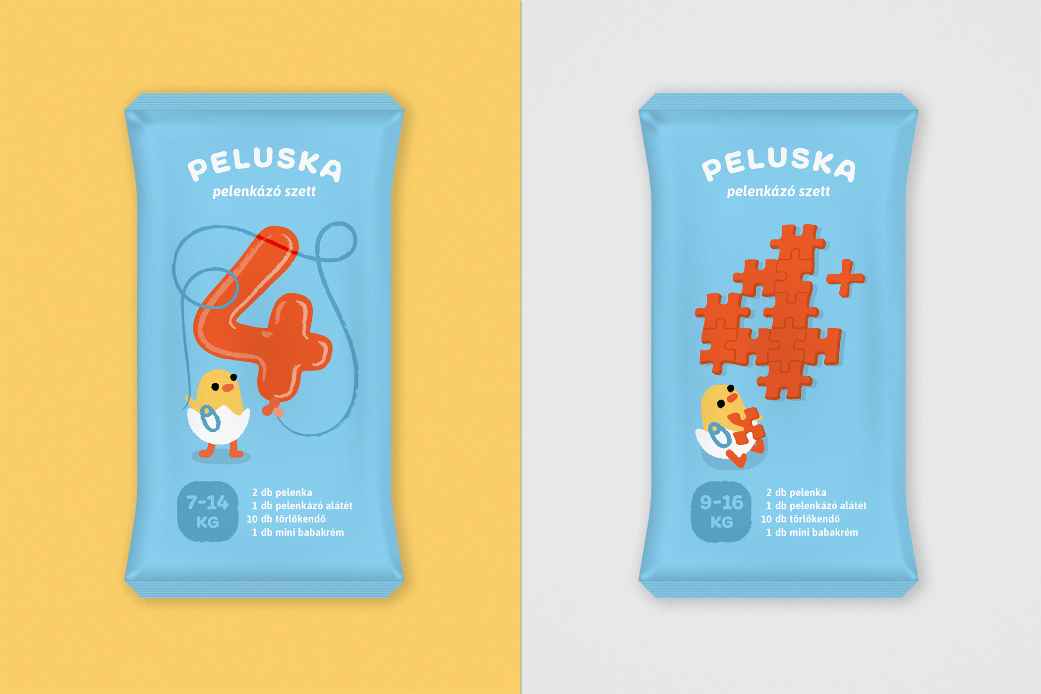 Diaper packaging for 4 and 4+