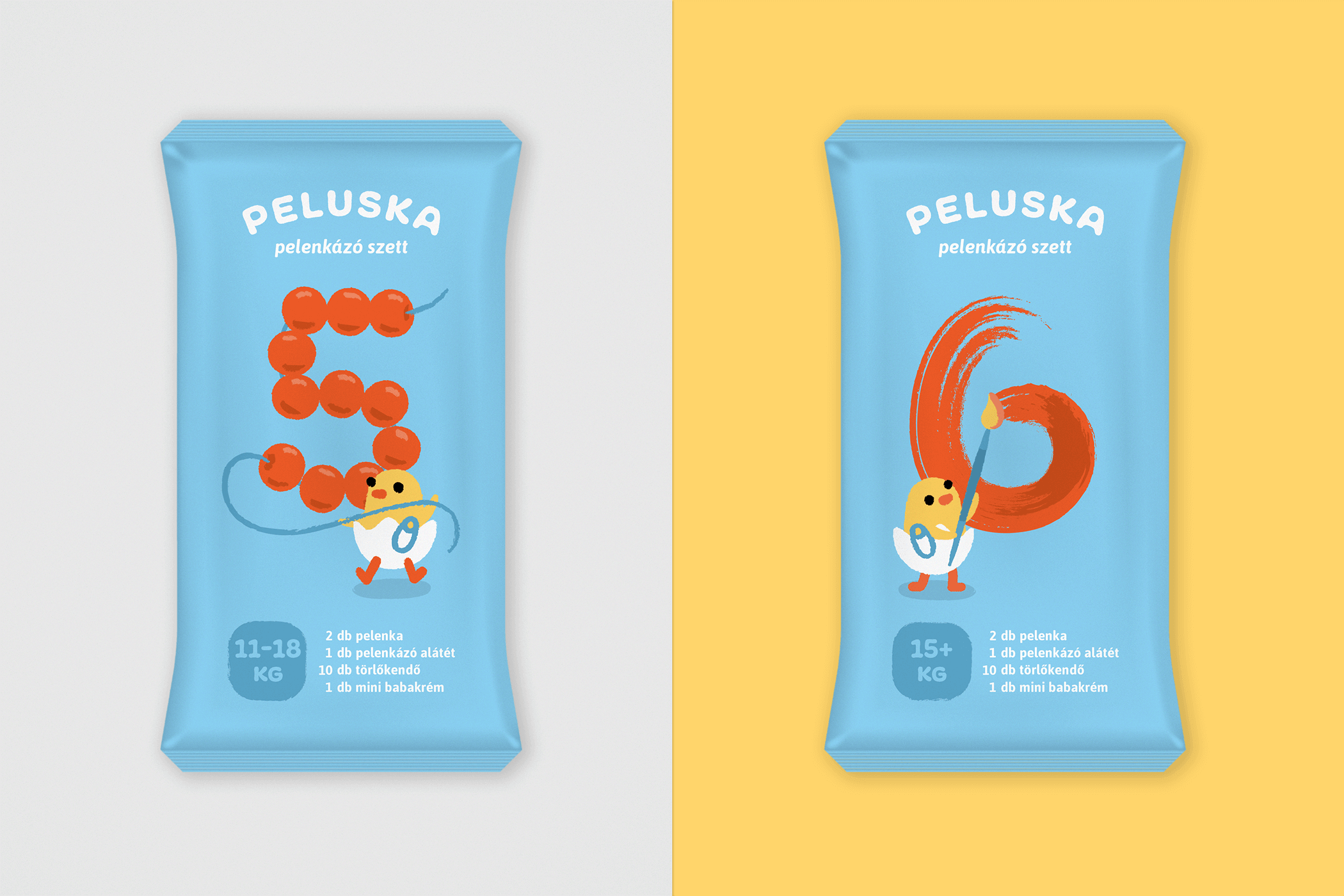 Diaper packaging for 5 and 6