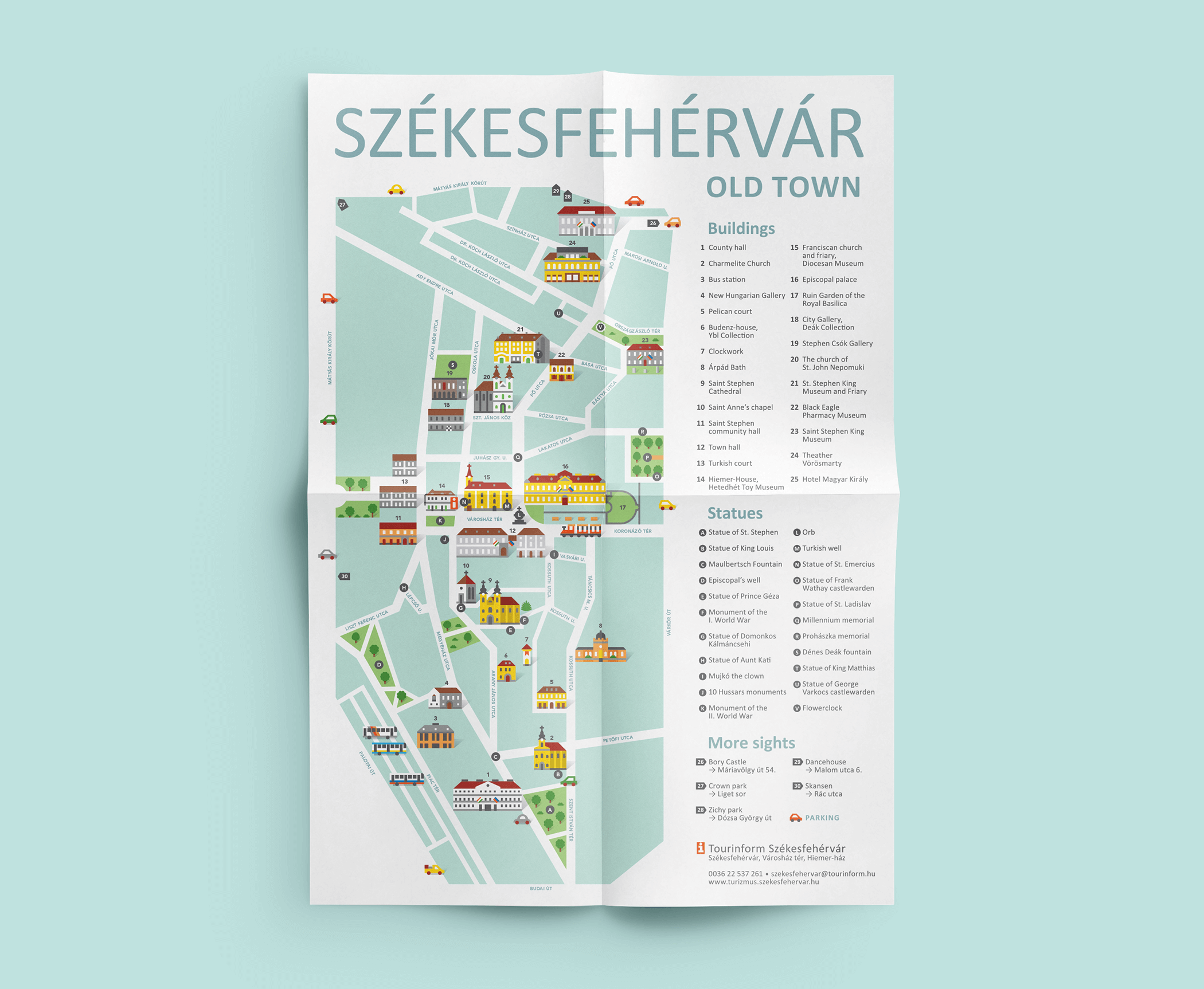 Illustrated tourist map poster