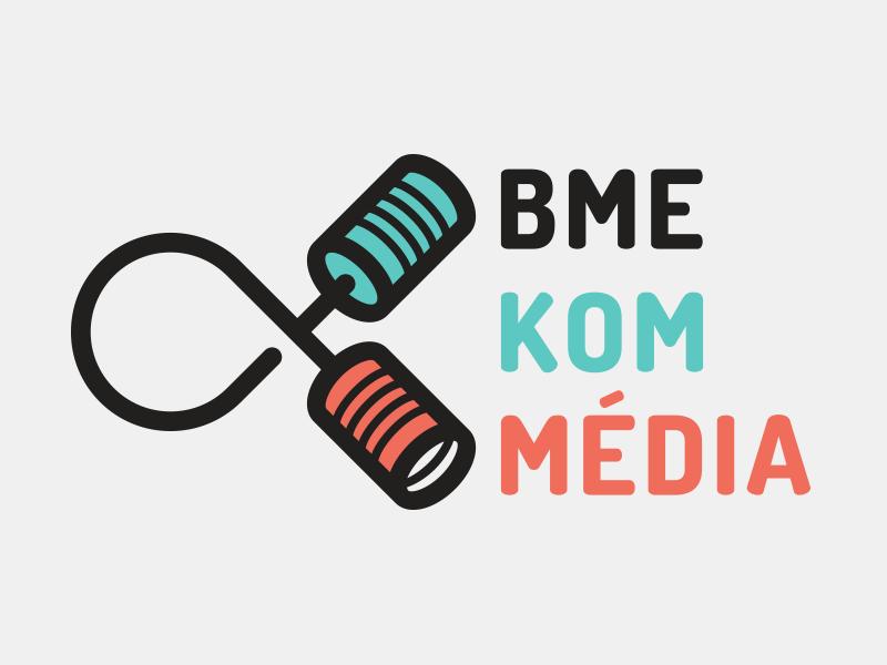 BME KomMedia logo visual identity