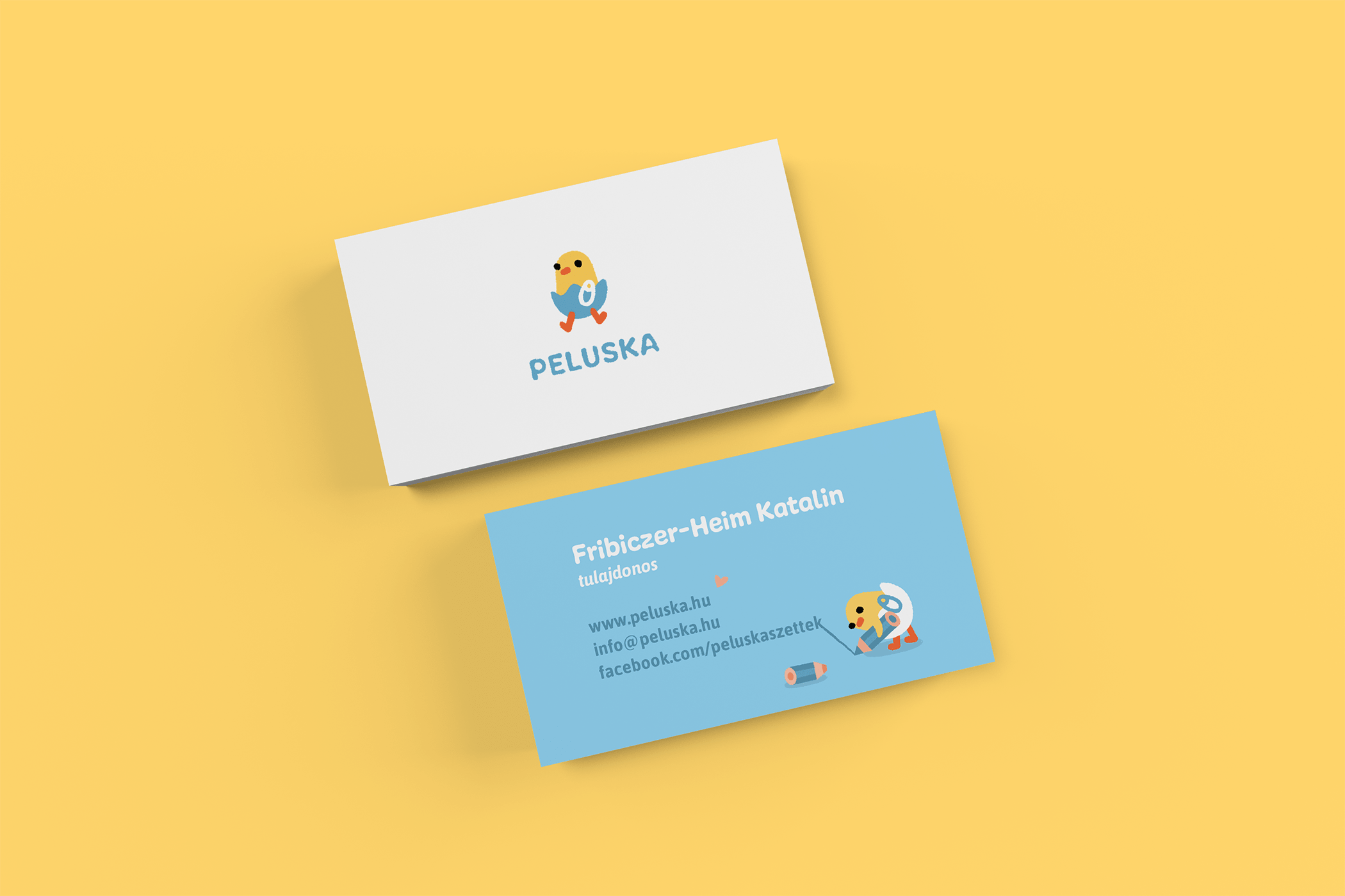 Diaper producer business card