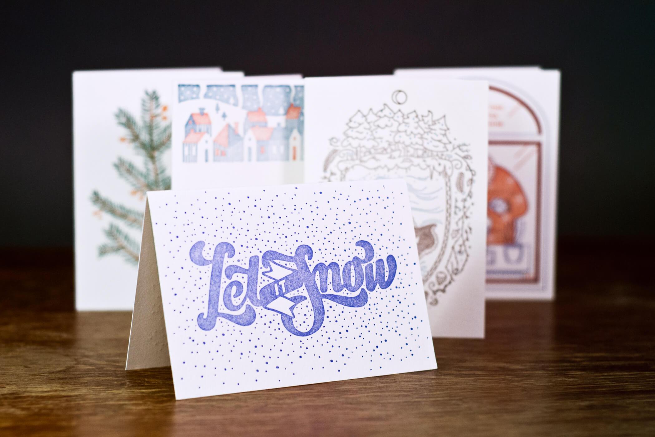 Letterpress postcard