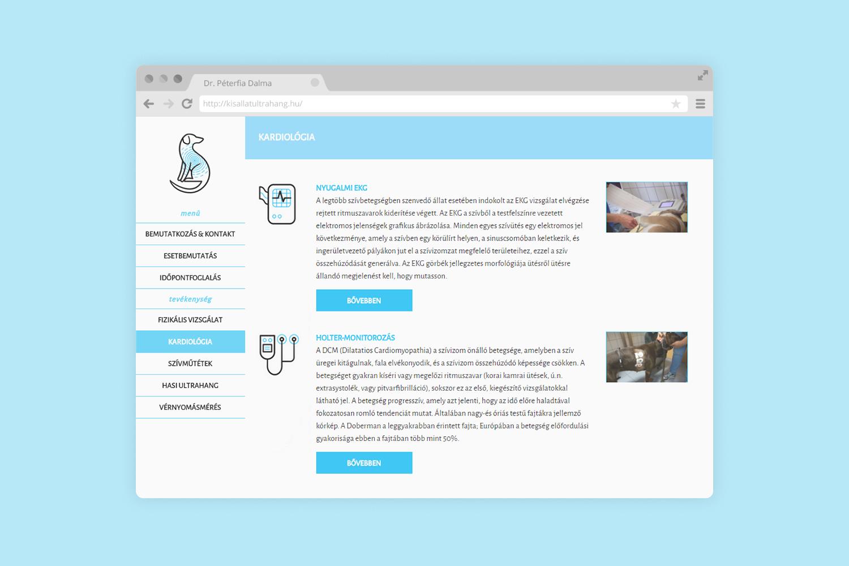 Dr Peterfia Dalma icons website design