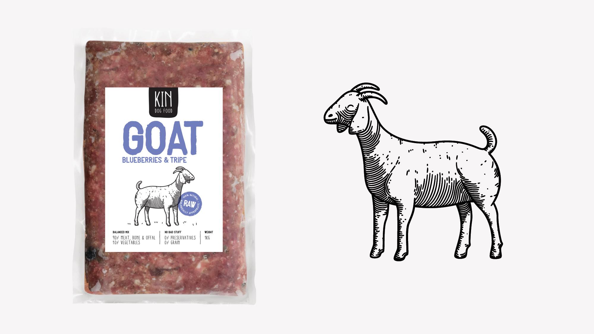 Dog food packaging - Goat