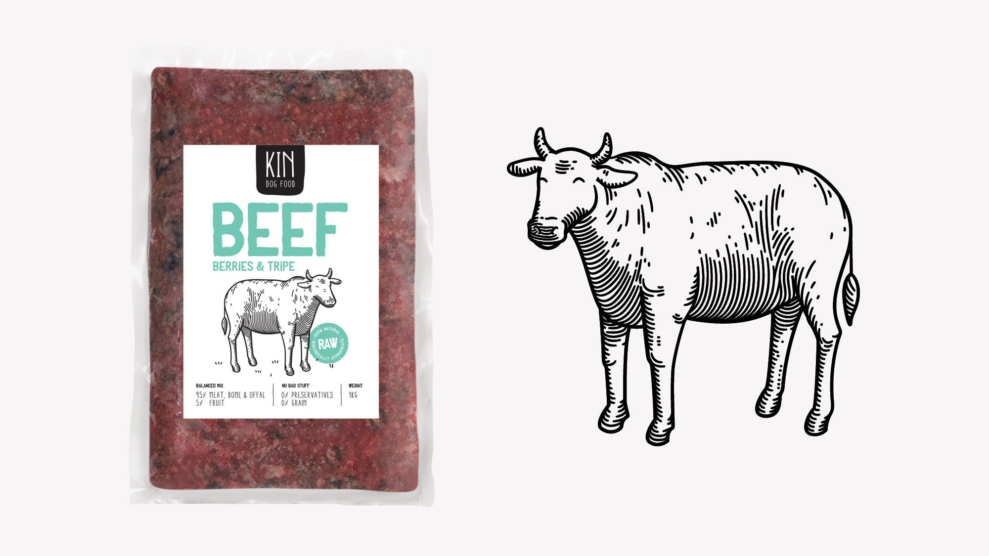 Dog food packaging - Cattle