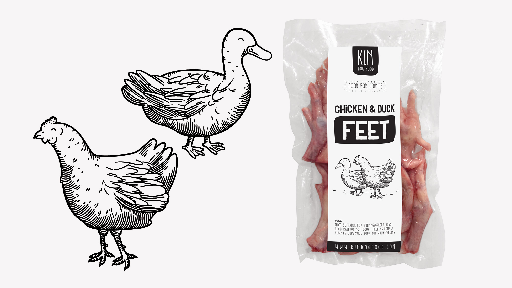 Dog food packaging - Chicken and duck
