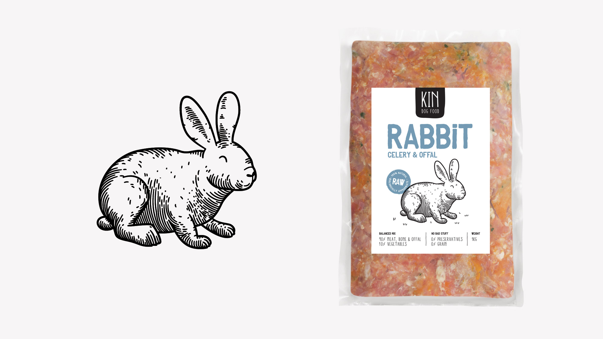 Dog food packaging - Rabbit