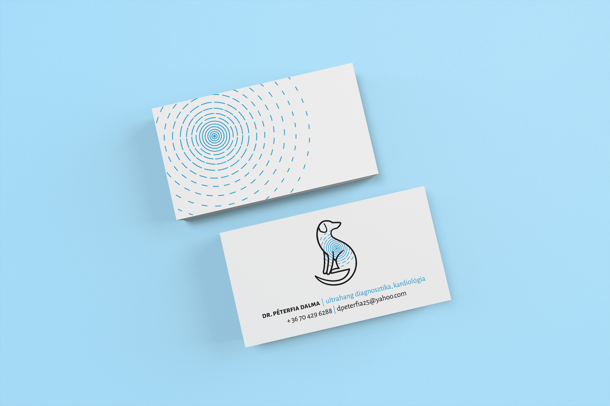 Dr Dalma Peterfia veterinary business cards