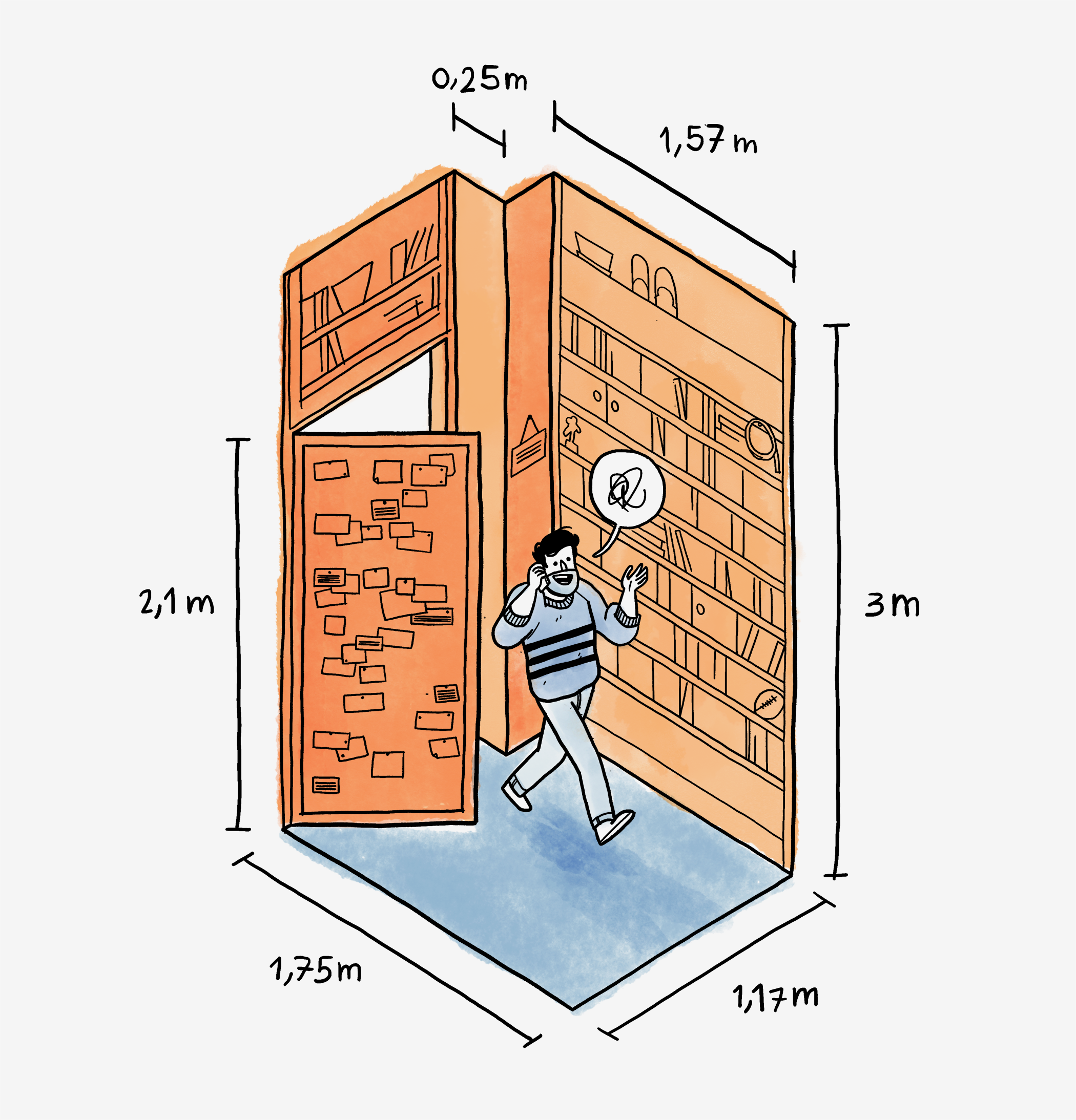 Viacom isometric illustration of phone room