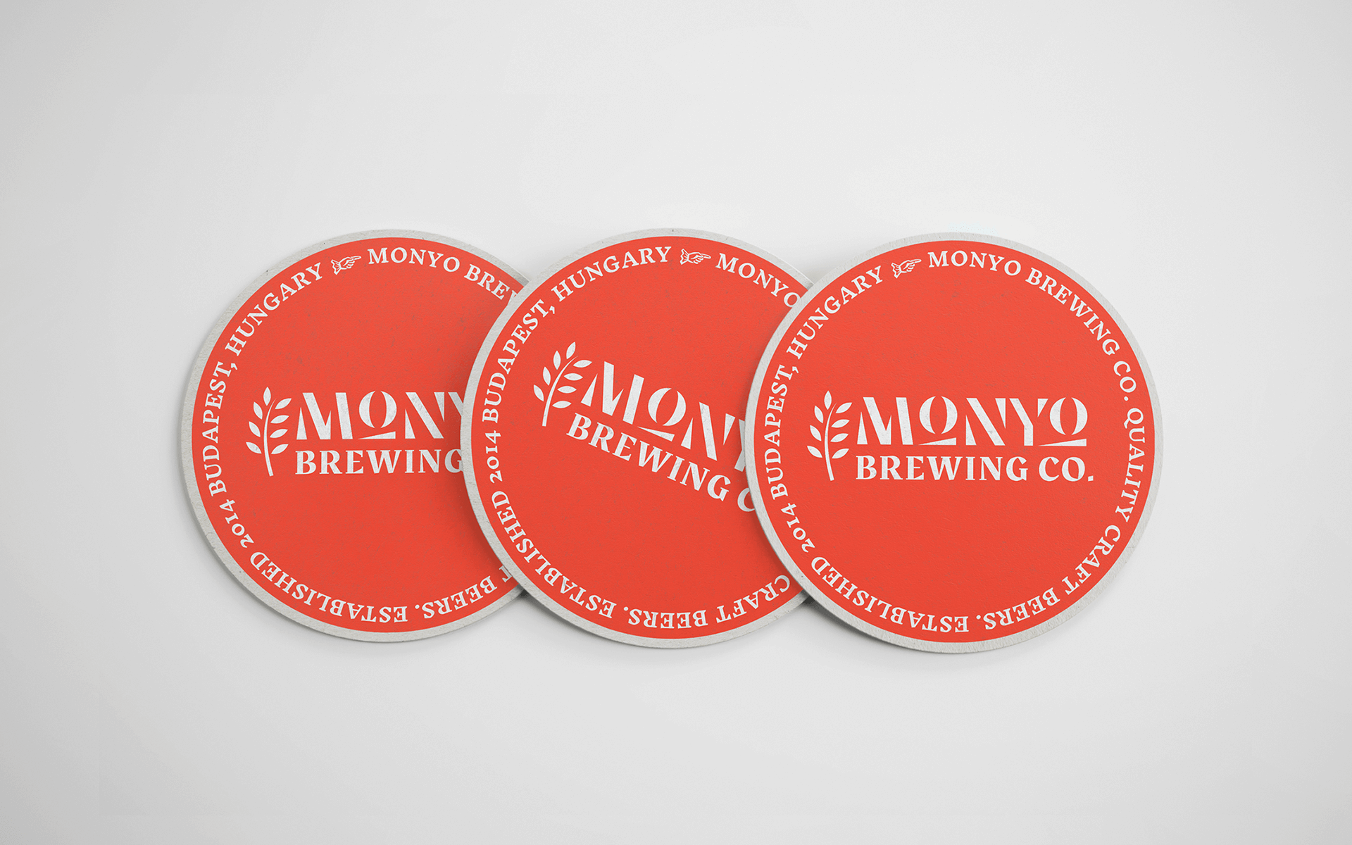 MONYO craft beer packaging - coasters