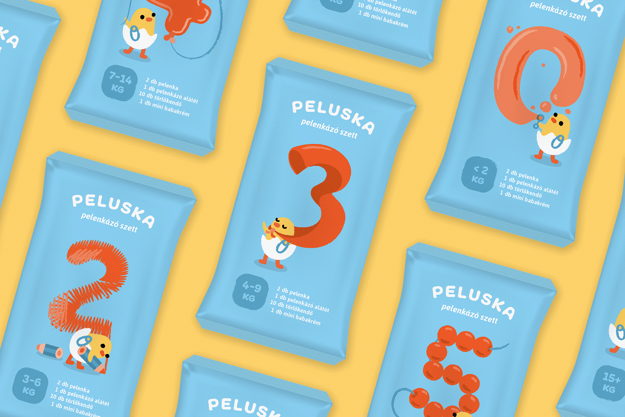 Peluska diaper packaging