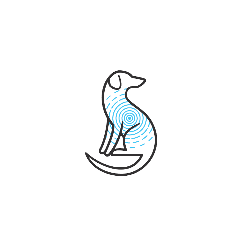 Veterinarian dog logo