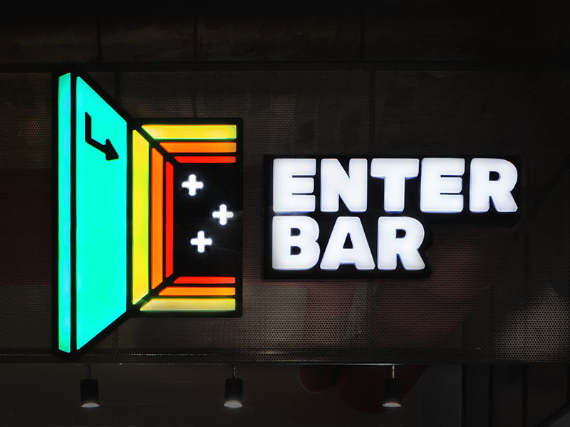 enter bar neon logo